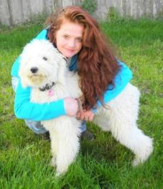"""Me and my Standard Poodle """"Miss Pele""""!"""