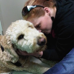 Me and Toby at the vets office