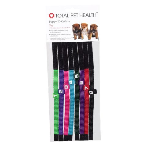 Nylon and Velcro Puppy ID Collars