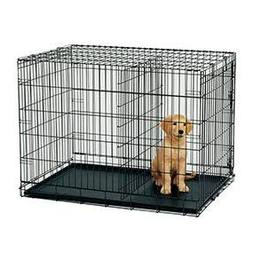 PUPPY CRATE WITH DIVIDER