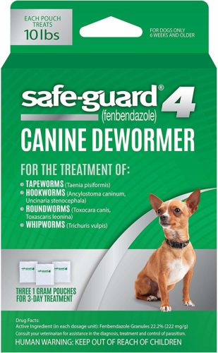 BOX OF SAFE-GUARD DEWORMER GRANUELS - FOR 10 LB DOGS