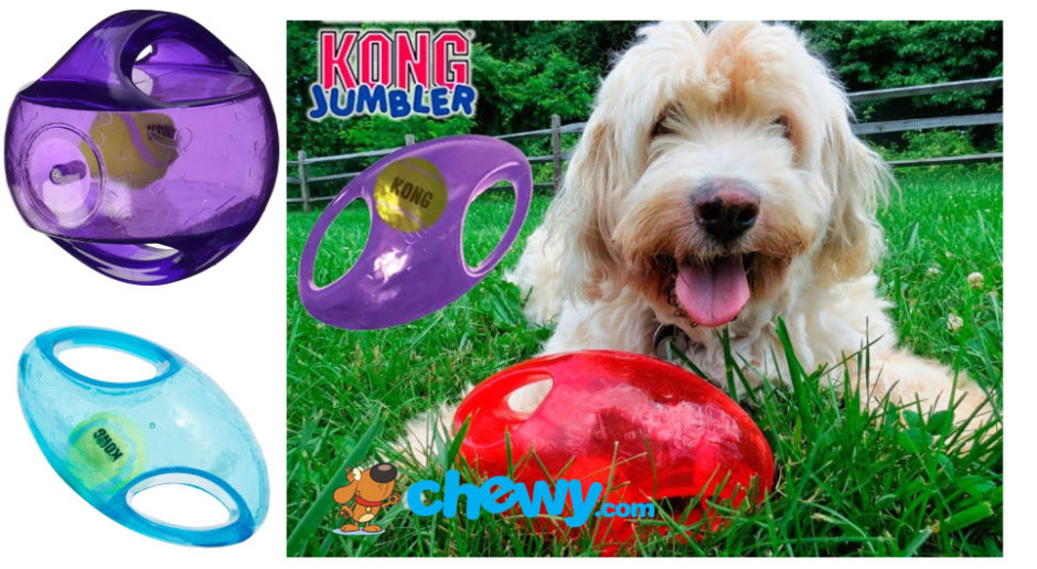 Kong Jumbler Interactive Toy for Aussiedoodles and Labradoodles