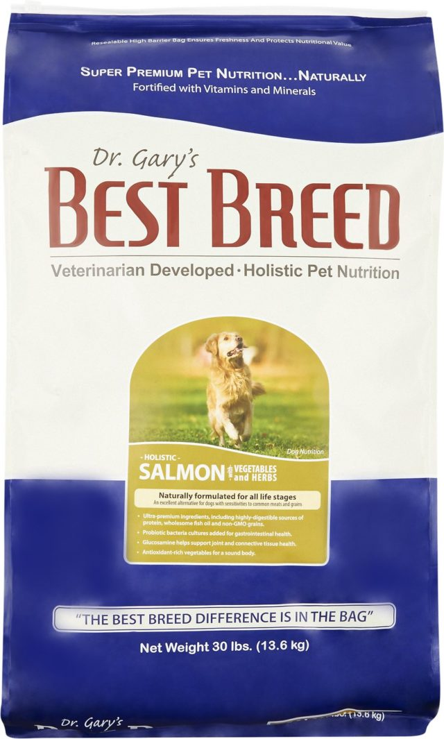 Dr. Gary's Best Breed Holistic Salmon with Vegetables & Herbs , 30-lb bag –