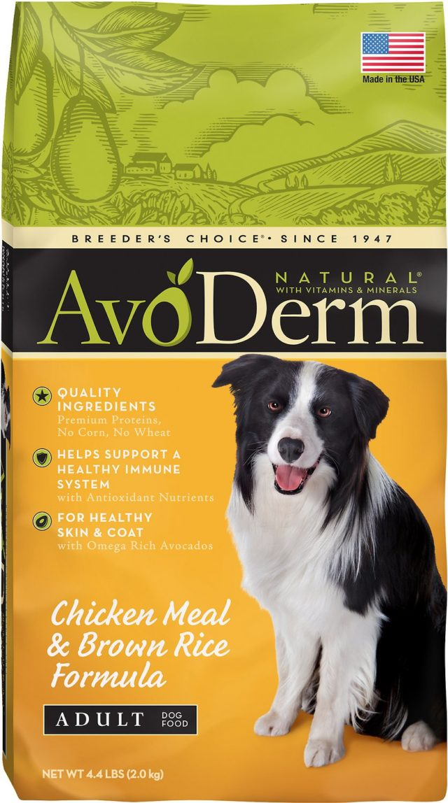 AvoDerm pea free dog food list