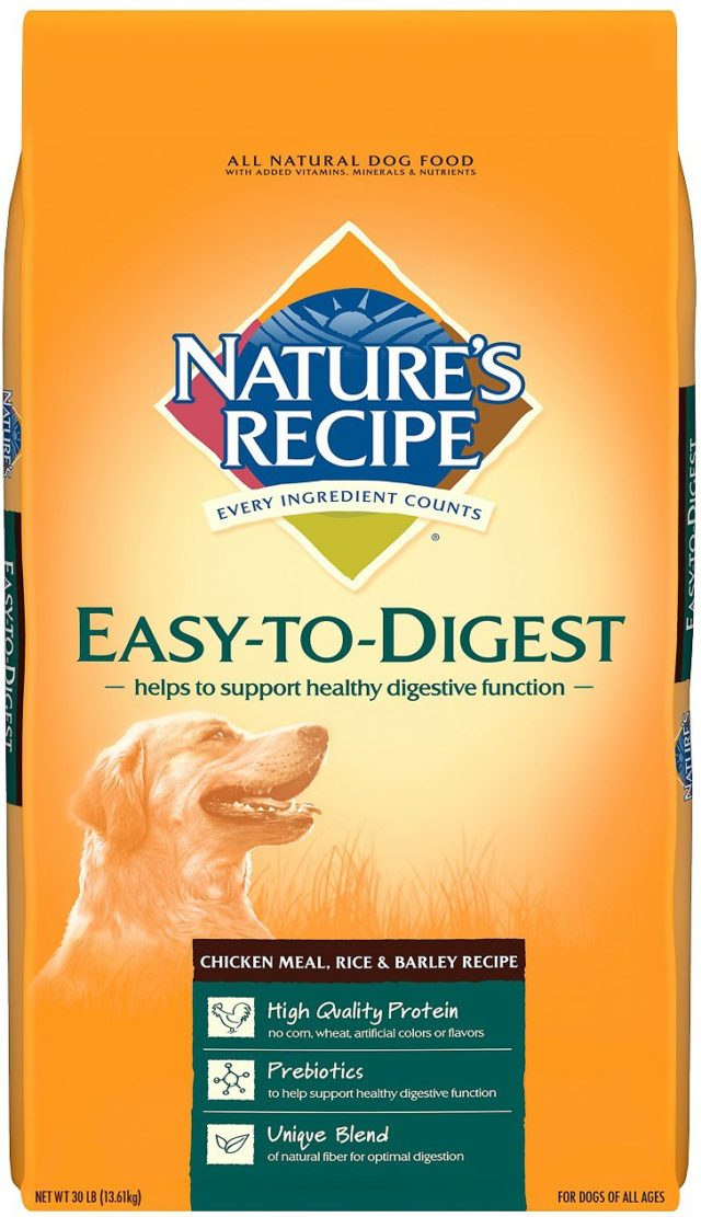 Nature's Recipe Easy-To-Digest Chicken Meal, Rice & Barley Recipe Dry Dog Food, 30-lb bag