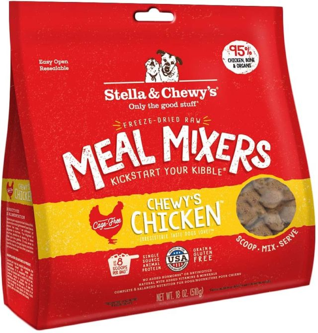Stella & Chewy's Chewy's Chicken Meal Mixers Freeze-Dried Raw Dog Food Topper, 18-oz bag